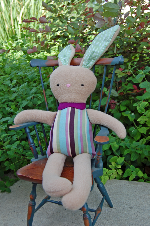 handmade stuffed rabbit from The Nesting Spot