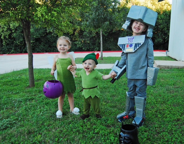 Tinker Bell, Peter Pan, and Megatron DIY Costumes from The Nesting Spot