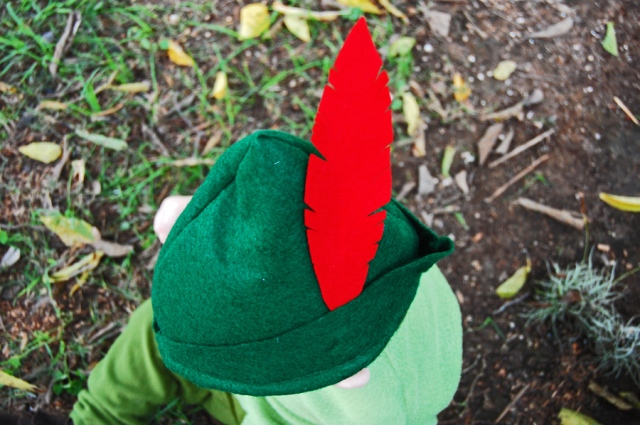 DIY Peter Pan Hat from The Nesting Spot