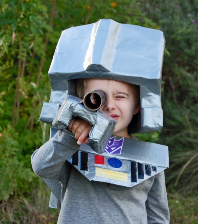 DIY Transformers Costume from The Nesting Spot