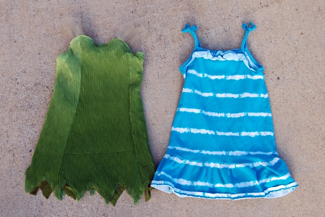 tinkerbell dress sized from sun dress