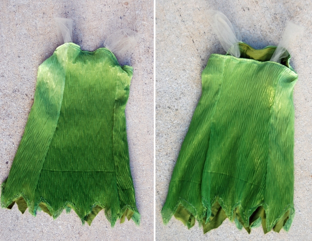 diy tinkerbell dress from The Nesting Spot