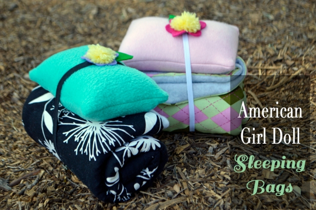 american girl doll sleeping bag tutorial